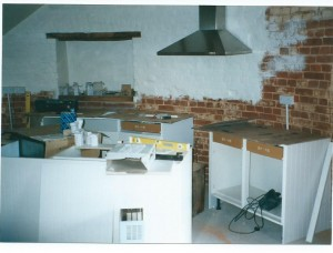 The only tailor made part of the kitchen was the work top