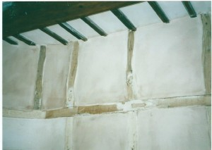 Plastering the internal walls