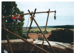 Hoist on roof, to save some legwork!