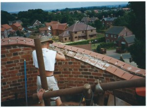 Tidying up the external brickwork was the first job.