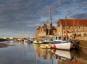 Blakeney harbour. Aylsham windmill accommodation